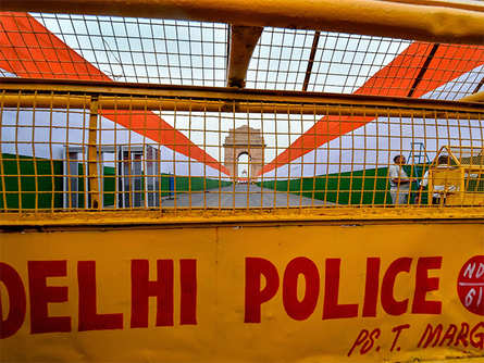 Heavy security cover in Delhi