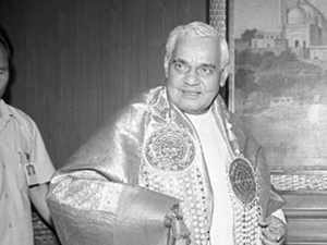Born in a humble school teacher's family on December 25, 1924, in Gwalior Madhya Pradesh, Vajpayee entered politics during the Quit India movement in 1942. He did his graduation and post graduation in Political Science from Victoria College in Gwalior.