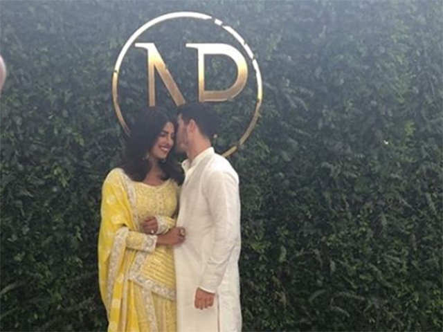 All for love: Priyanka Chopra and Nick Jonas make things official in a traditional, 'roka' ceremony