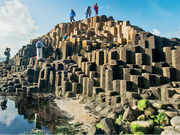 The 40,000-odd basalt formations at the Giant's Causeway in Northern Ireland