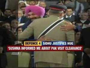 Sidhu's hug to Pak Army Chief backfires as martyrs' kin call him 'deshdrohi'