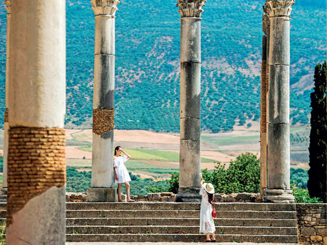 A step back in time: Volubilis is one of the largest and most important archaeological sites in Morocco