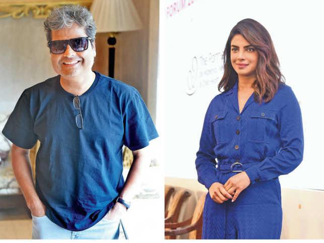 Vishal Bhardwaj (L) and Priyanka Chopra (R)