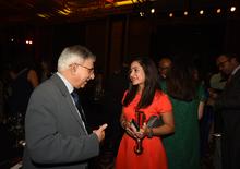 Sam Bulsara of Madison World with Nadia Chauhan of Parle Agro
