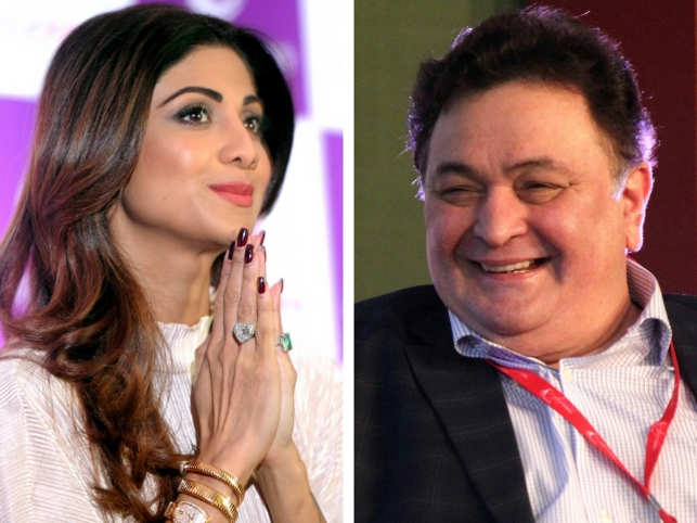 Shilpa Shetty (L) and Rishi Kapoor (R)