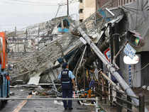 The impact of the typhoon