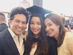 Sara Tendulkar makes parents proud, graduates from UCL