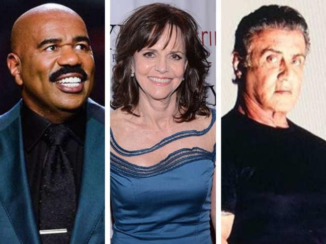 From left (Steve Harvey, Sally Field, Sylvester Stallone)