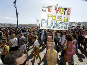 Climate protests AP