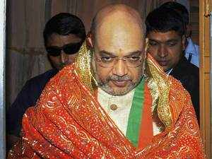 Jaipur: Amit Shah offers prayers at Moti Dungri Temple