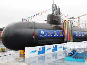 South Korea launches its first missile-capable submarine