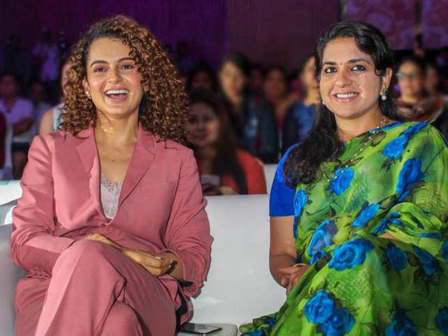 Kangana Ranaut and Shaina NC