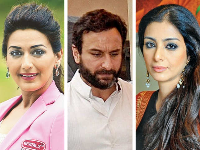 ​(L-R) Sonali Bendre, Saif Ali Khan and Tabu​