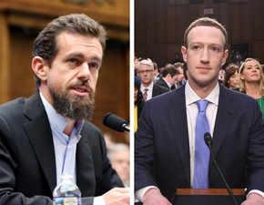 Under fire: When tech titans Jack Dorsey, Mark Zuckerberg were questioned by the Senate
