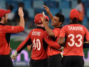 Match 4:  India score 285/7 against Hong Kong