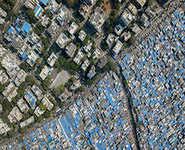 Aerial images show Mumbai's class divide