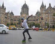 Vizag man skates 6,000 km to educate girls