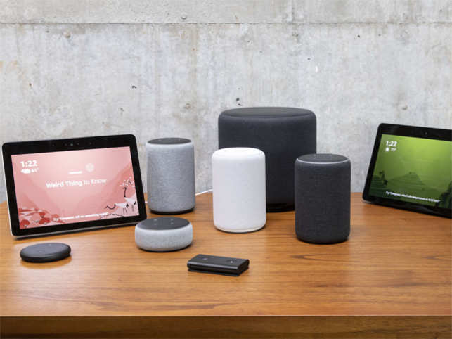 "Amazon caused a few gasps at its Alexa event Thursday when it revealed it had 70 things to announce. The new products give Amazon a greater reach than ever before. Updates to the internet giant's Alexa-infused Echo smart speakers will allow them to tend to microwave cooking and even have ""hunches"" regarding what users may want or have forgotten. Alexa is even developing a personality, complete with a favorite pet or beer. Here's a round up all of the Alexa-infused products Amazon showcased, including speakers, an in-car device and, a microwave:"