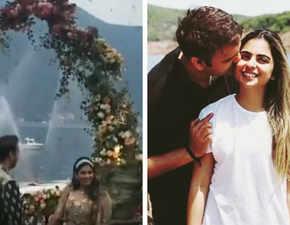 Isha Ambani, Anand Piramal get engaged under a flower shower in Lake Como