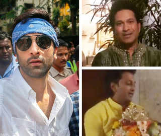 Ganesh Visarjan: Ranbir Dances, Tendulkar Goes Green