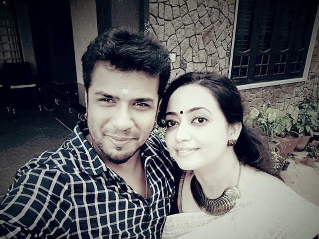 Balabhaskar with wife Lakshmi