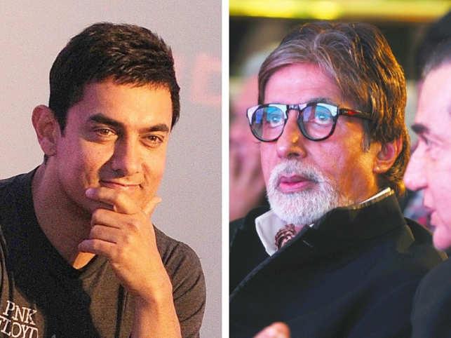 Aamir Khan (L), Amitabh Bachchan