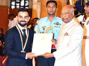 Virat Kohli, Mirabai Chanu conferred Khel Ratna; Neeraj, Hima get Arjuna award