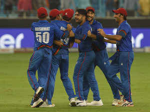 Mohammad Shahzad ton helps Afghanistan tie against India