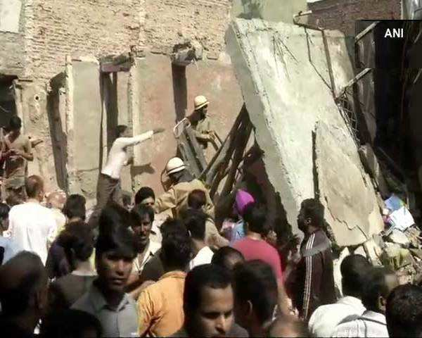 Watch: Three-storey building collapses in Delhi's Ashok Vihar