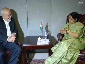 Sushma Swaraj holds bilateral talks with Iran Foreign Minister Javad Zarif