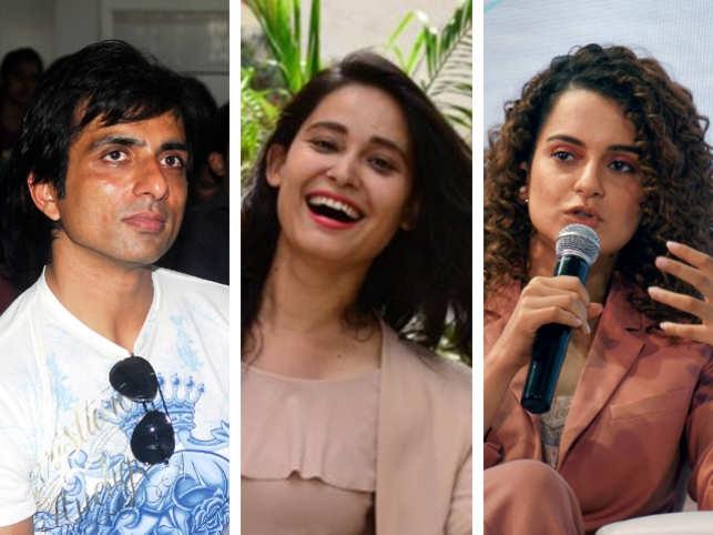 From left: Sonu Sood, Swati Semwal, Kangana Ranaut