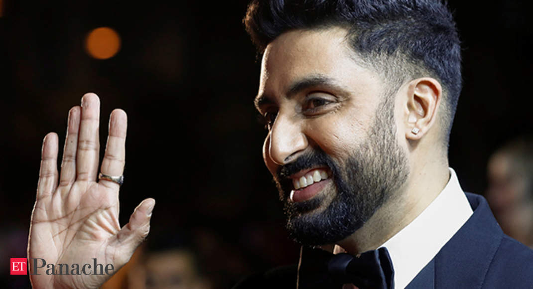 7ef966d38d3 Abhishek Bachchan inaugurates rare collection of Big-B portraits - The  Economic Times Video