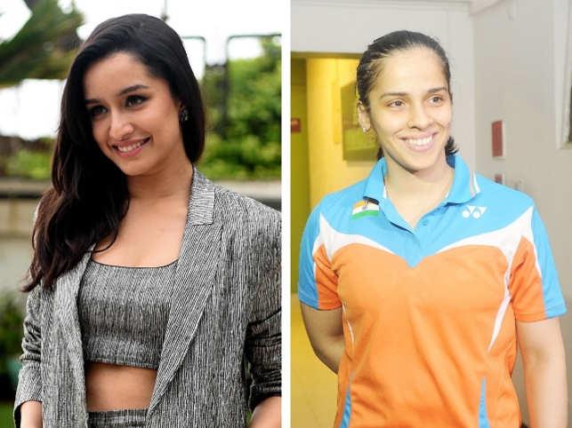 Shraddha Kapoor (L), Saina Nehwal (R)