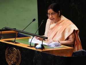 Pakistan glorifies killers; refuses to see the blood of innocents: Sushma Swaraj at UNGA