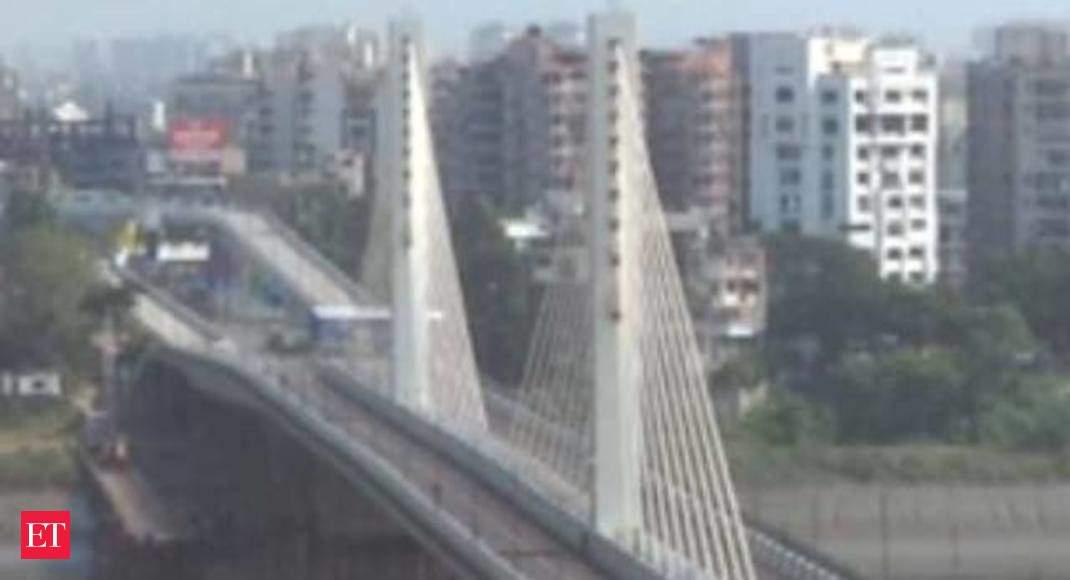 Surat Cable Bridge Surat Gujarat S First Four Lane Cable Stayed