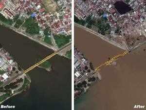 Indonesia, before & after: Satellite images show destruction of earthquake, tsunami