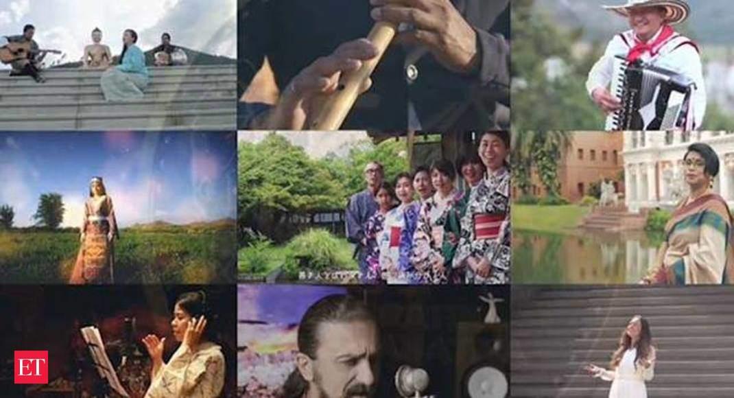 Vaishnav Jan To: Artists from 124 countries pay homage to Mahatma Gandhi