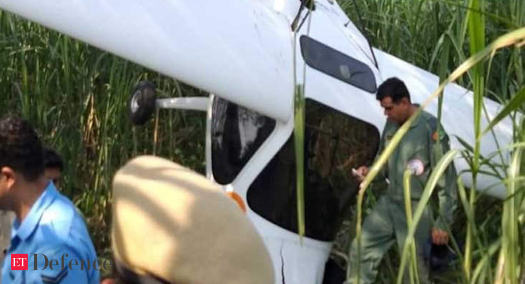 Indian Air Force's microlight crashes in UP, pilots safe