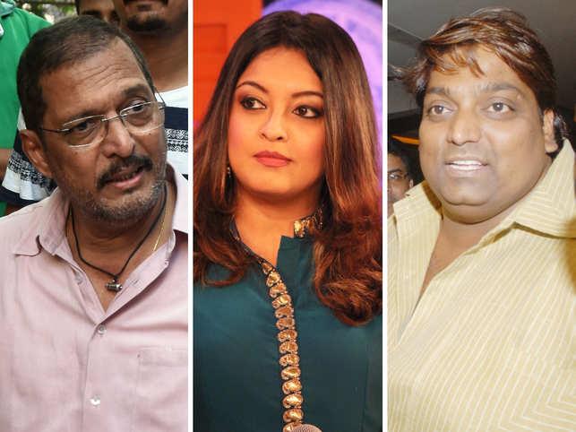 (L-R) Nana Patekar, Tanushree Dutta and Ganesh Acharya