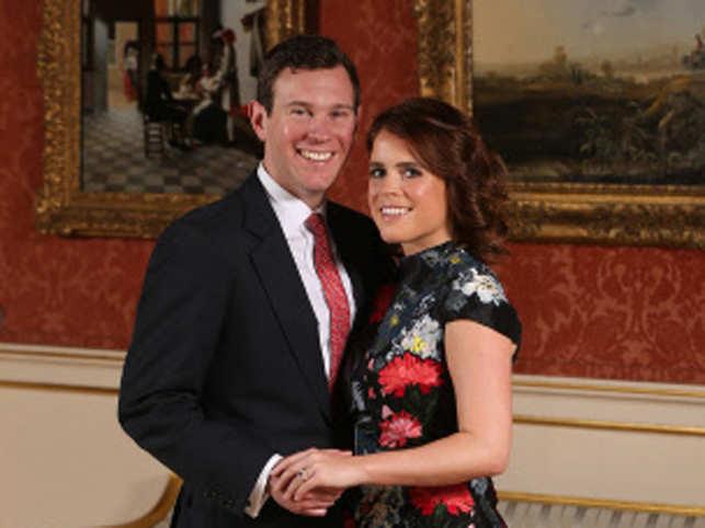 Jack Brooksbank (L) with Princess Eugenie
