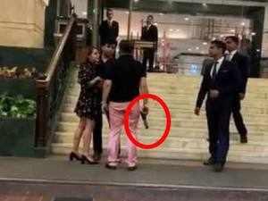 On cam: Man brandishes gun outside 5-star hotel in Delhi, booked