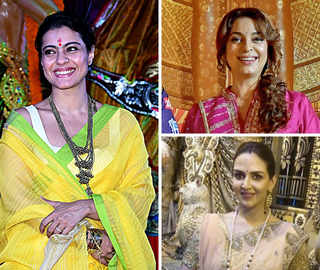 Durga Pujo 2018: Kajol Goes Pandal-Hopping; Juhi Bonds With KKR Boys