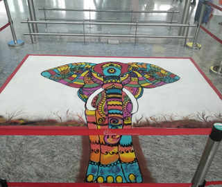 A special menu, crystal rangolis, Dasara-themed VR game: Festive fever grips passengers at Bengaluru airport