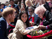 Prince Harry introduces wife Meghan to his 98-year-old friend in Sydney