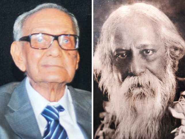 Syed Haider Raza (L), Rabindranath Tagore