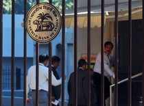 RBI logo is pictured outside its head office in Mumbai