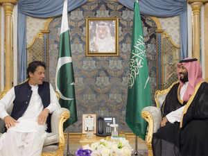 ImranKhan&SaudiPrince.AFP