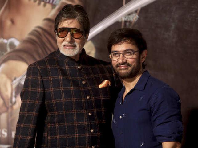 Amitabh Bachchan (L), Aamir Khan