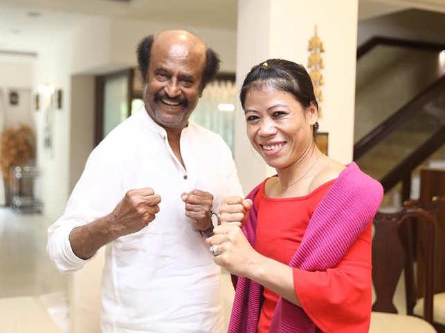 Boxing icon Mary Kom visits Rajinikanth