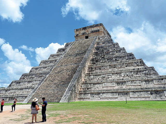 With its lush carvings of gods and beasts, it's all maya at Mexico's Chichen Itza